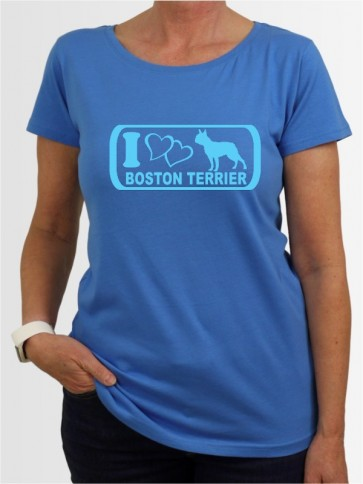 """Boston Terrier 6"" Damen T-Shirt"