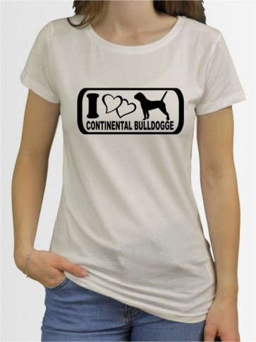 """""""Continental Bulldogge 6"""" Damen T-Shirt"""