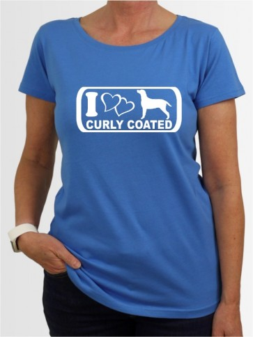 """Curly Coated Retriever 6"" Damen T-Shirt"