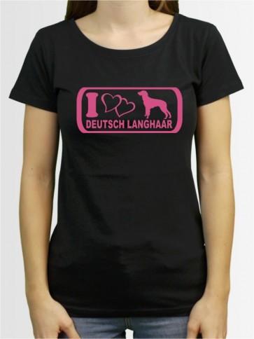 """""""Deutsch Langhaar 6"""" Damen T-Shirt"""