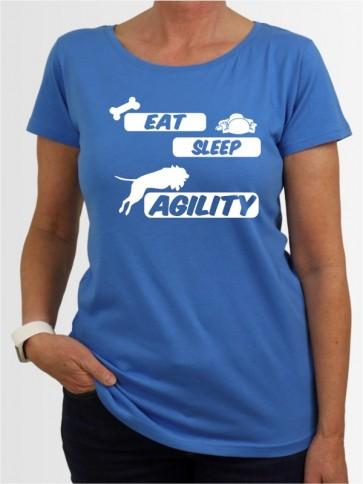 """Eat sleep agility"" Damen T-Shirt"