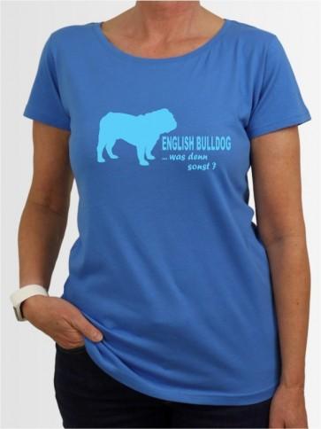 """""""English Bulldog 7"""" Damen T-Shirt"""