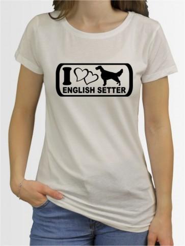 """English Setter 6"" Damen T-Shirt"