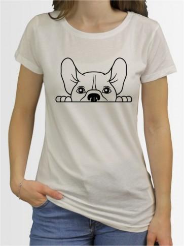 """""""Französische Bulldogge Comic 1"""" Damen T-Shirt"""