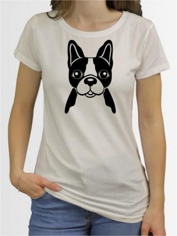 """""""Französische Bulldogge Comic 3"""" Damen T-Shirt"""