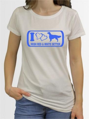 """Irish Red & White Setter 6"" Damen T-Shirt"