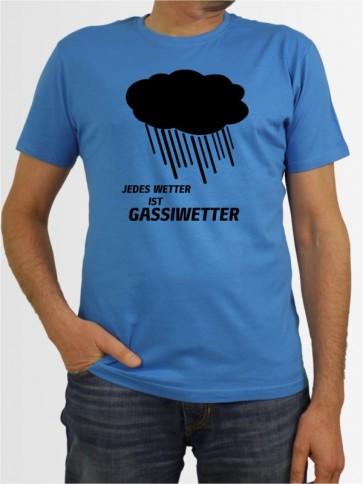 """Jedes Wetter ist Gassiwetter"" Herren T-Shirt"
