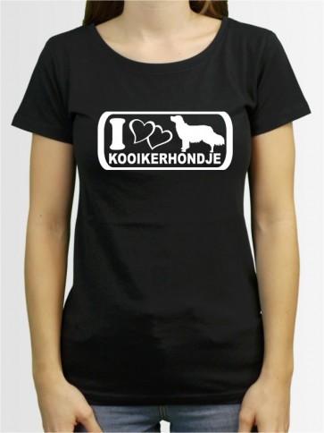 """""""Kooikerhondje 6"""" Damen T-Shirt"""