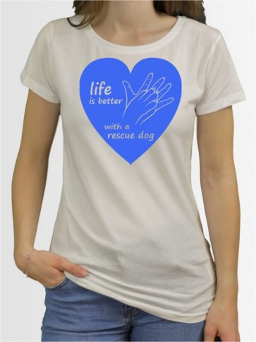 """Life Rescue Dog"" Damen T-Shirt"