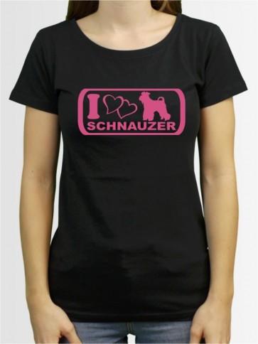 """""""Mittelschnauzer 6"""" Damen T-Shirt"""
