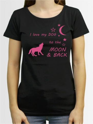 """Moon & Back"" Damen T-Shirt"