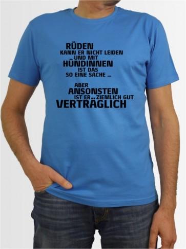 """""""Rüden kann er nicht leiden"""" Herren T-Shirt"""