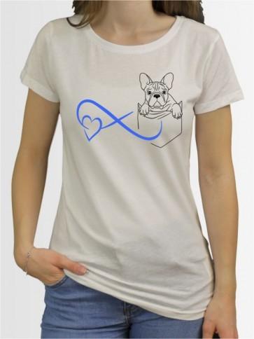 Damen-Shirt mit Französische Bulldogge Hunde-Motiv von AchDuDickerHund