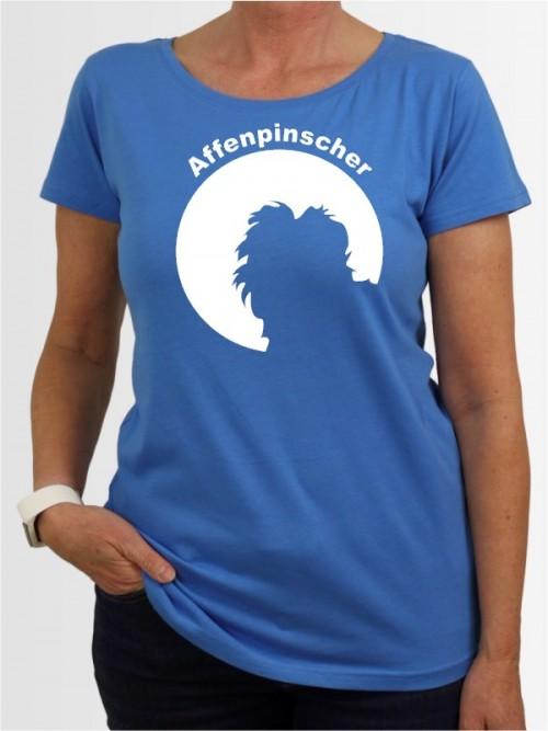 Damen-Shirt mit Affenpinscher Hunde-Motiv von AchDuDickerHund