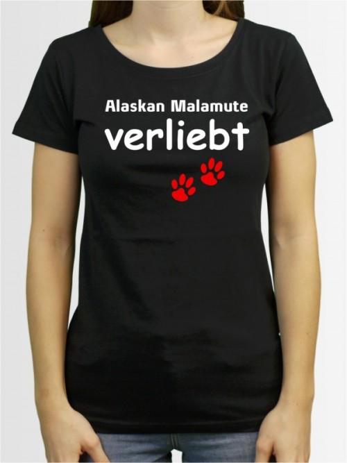 """""""Alaskan Malamute verliebt"""" Damen T-Shirt"""