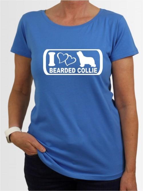 """""""Bearded Collie 6"""" Damen T-Shirt"""