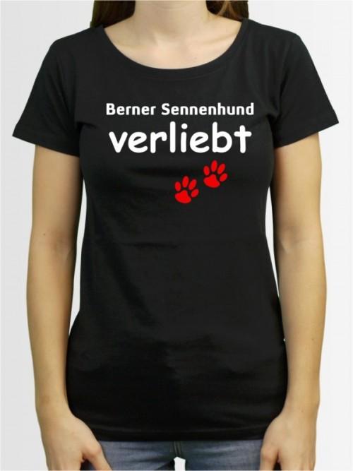 """""""Berner Sennenhund verliebt"""" Damen T-Shirt"""