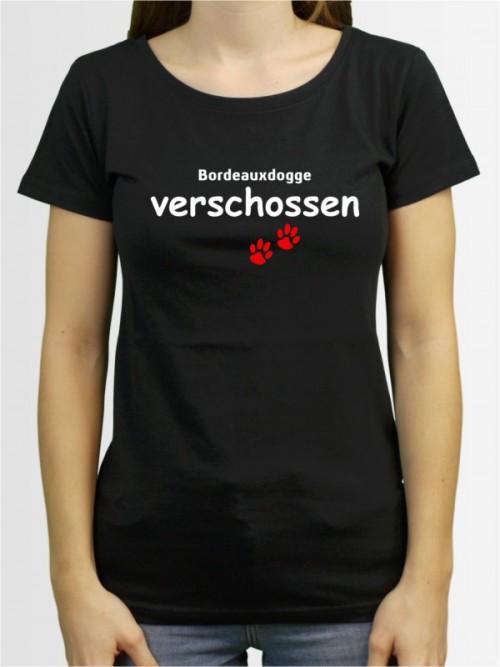 """Bordeauxdogge verschossen"" Damen T-Shirt"