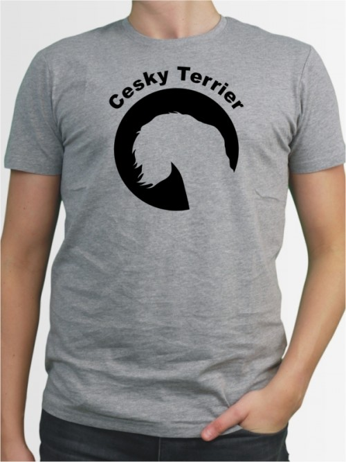 """""""Cesky Terrier 44"""" Herren T-Shirt"""