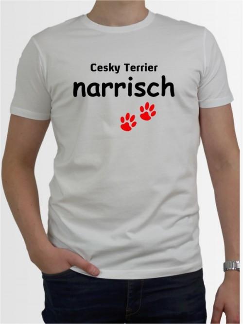 """Cesky Terrier narrisch"" Herren T-Shirt"