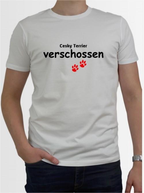 """""""Cesky Terrier verschossen"""" Herren T-Shirt"""