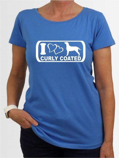 """Curly Coated Retriever 6"" Damen T-Shirt"