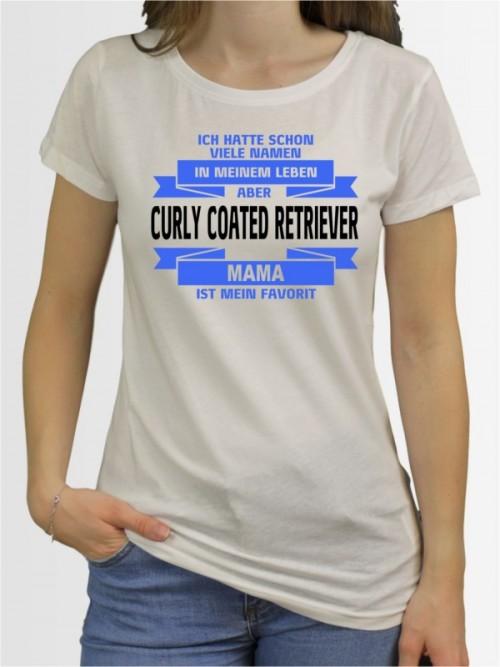 """Curly Coated Retriever Mama"" Damen T-Shirt"
