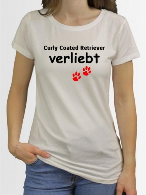 """""""Curly Coated Retriever verliebt"""" Damen T-Shirt"""