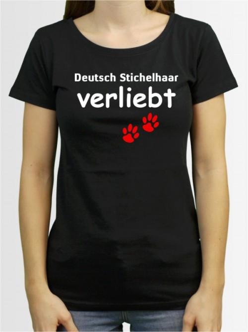 """""""Deutsch Stichelhaar verliebt"""" Damen T-Shirt"""