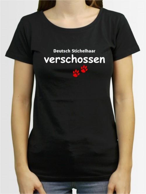 """""""Deutsch Stichelhaar verschossen"""" Damen T-Shirt"""