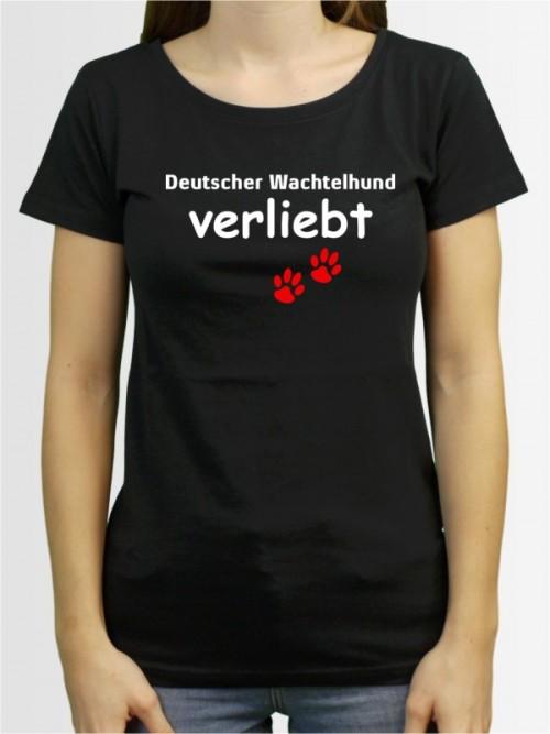 """""""Deutscher Wachtelhund verliebt"""" Damen T-Shirt"""