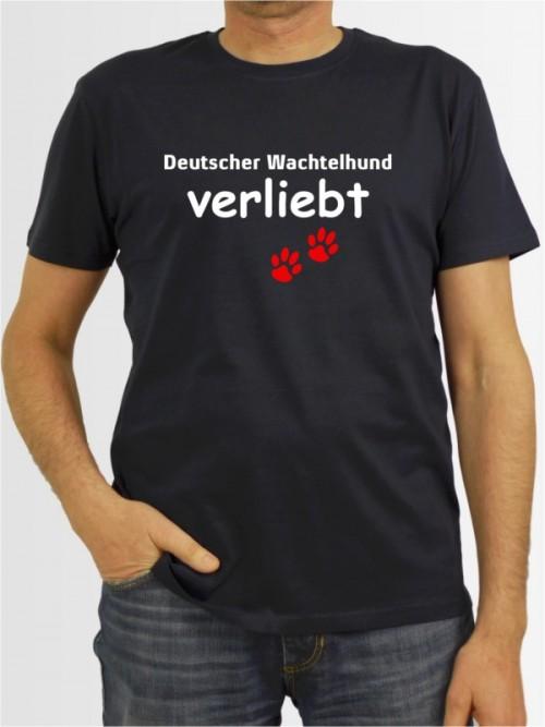"""""""Deutscher Wachtelhund verliebt"""" Herren T-Shirt"""
