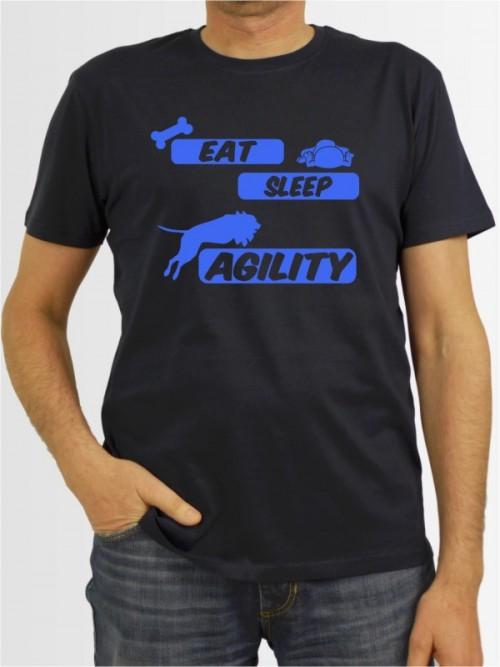 """Eat sleep agility"" Herren T-Shirt"
