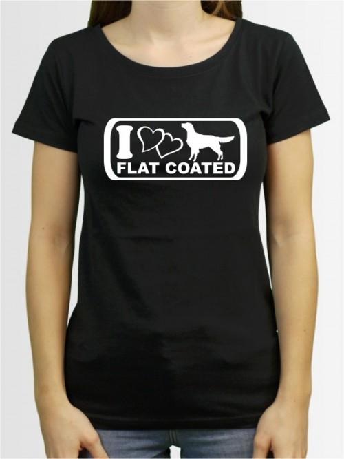 """Flat Coated Retriever 6"" Damen T-Shirt"