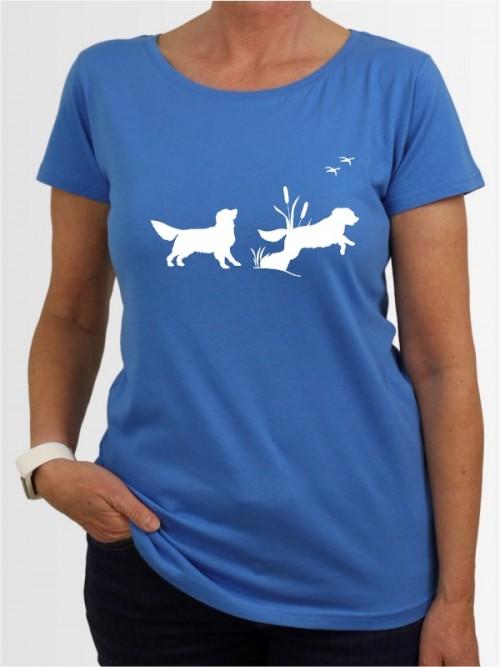 """""""Golden Retriever 37"""" Damen T-Shirt"""