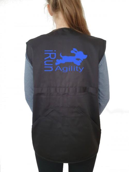 Hundesport-Weste mit I run Agility Motiv von AchDuDickerHund