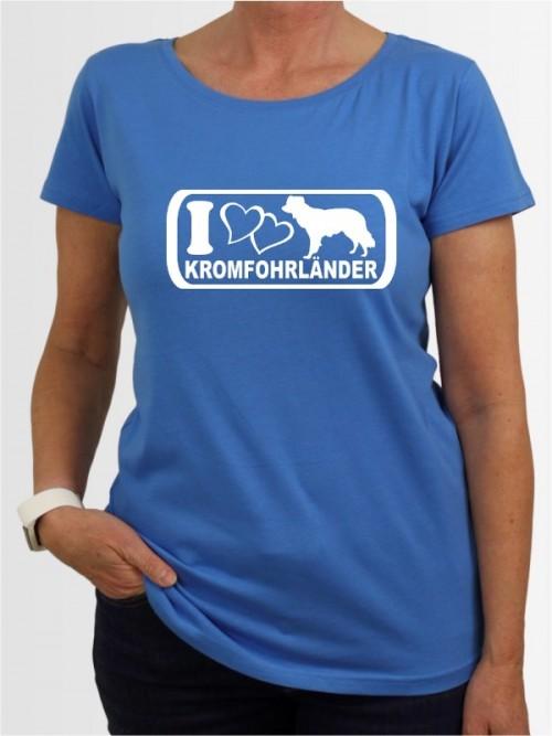 """""""Kromfohrländer Glatthaar 6"""" Damen T-Shirt"""