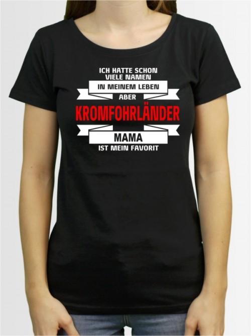"""""""Kromfohrländer Mama"""" Damen T-Shirt"""