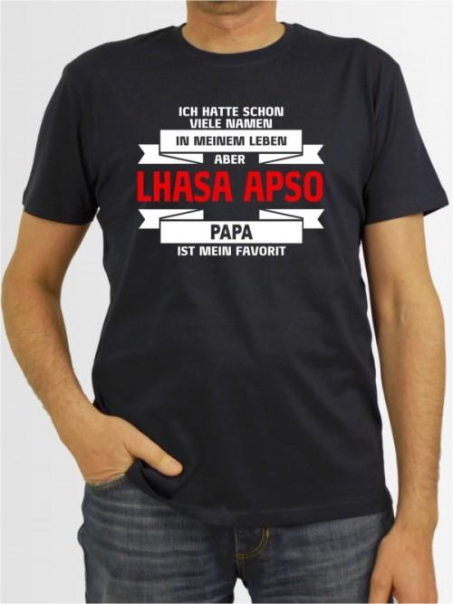 """""""Lhasa Apso Papa"""" Herren T-Shirt"""