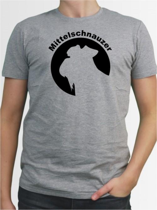 """""""Mittelschnauzer 44"""" Herren T-Shirt"""