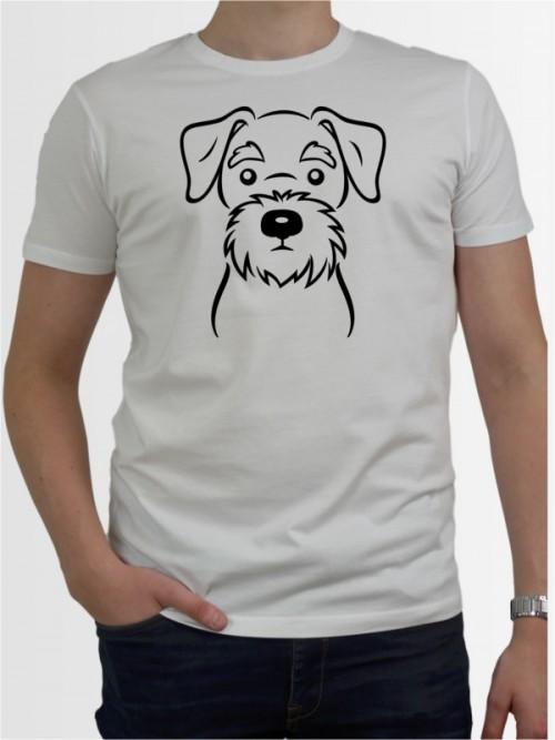 """Mittelschnauzer Comic"" Herren T-Shirt"