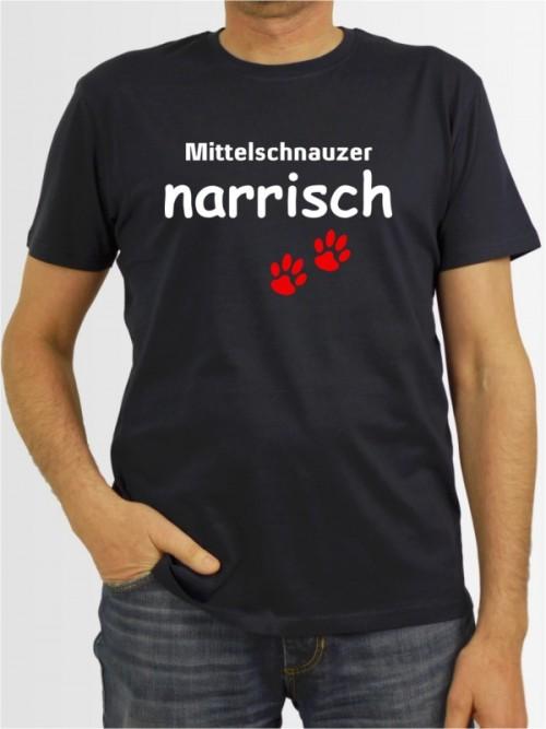 """""""Mittelschnauzer narrisch"""" Herren T-Shirt"""
