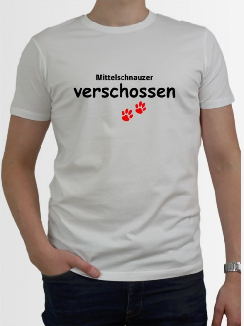 """Mittelschnauzer verschossen"" Herren T-Shirt"