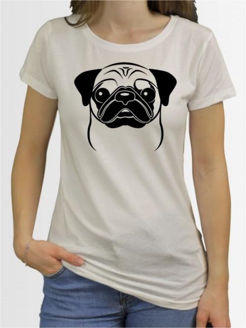 """""""Mops Comic 1"""" Damen T-Shirt"""