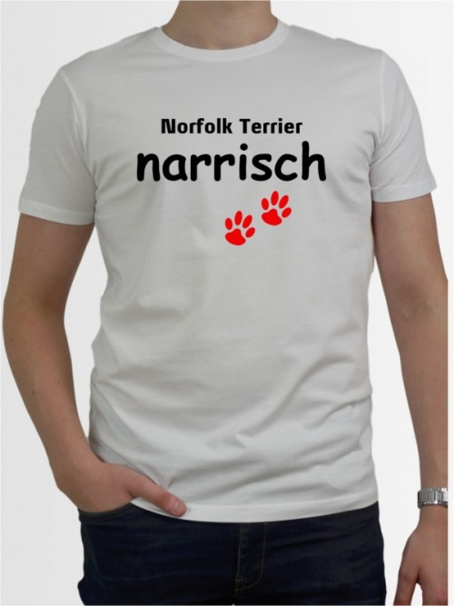 """Norfolk Terrier narrisch"" Herren T-Shirt"