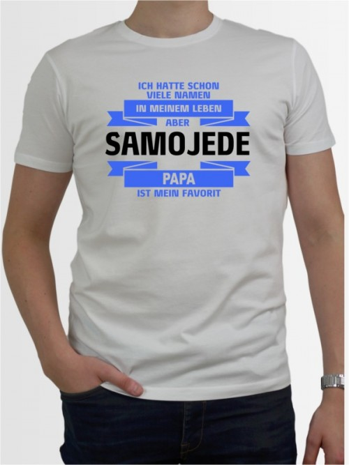 """""""Samojede Papa"""" Herren T-Shirt"""