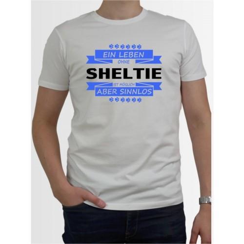 """""""Ein Leben ohne Sheltie"""" Herren T-Shirt"""