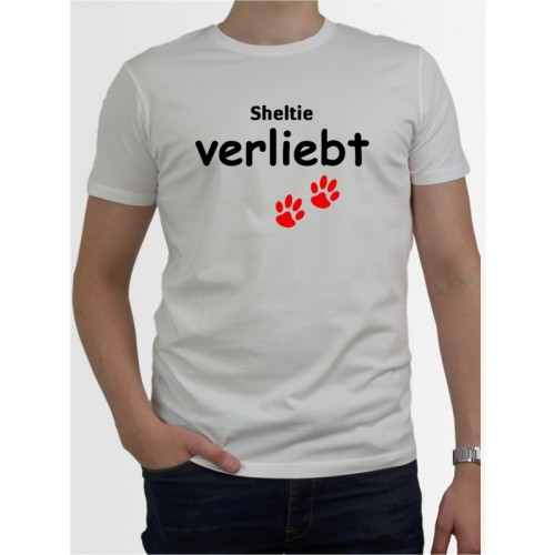 """Sheltie verliebt"" Herren T-Shirt"